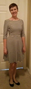 Kathy Striped Fit & Flare Dress