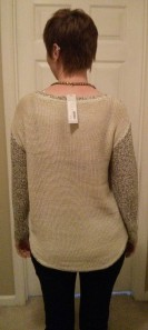 Analisa Twisted Seam Mixed Knit Sweater